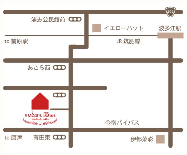 マダムブンへのアクセスマップ